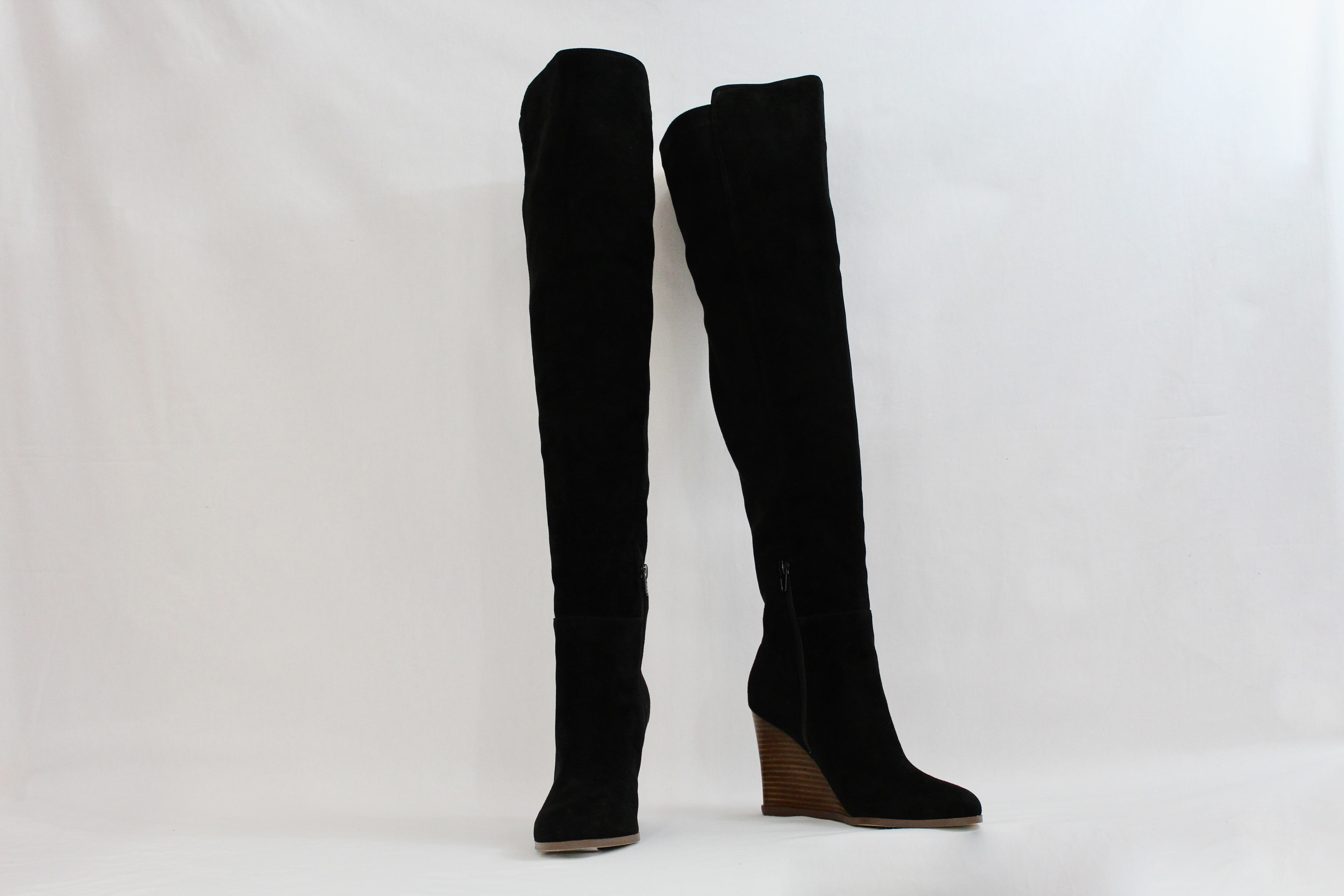 30ed6fc85b7 Vince Camuto Granta Black suede over the knee boots – Changes Luxury  Consignment